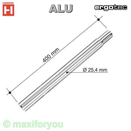 Humpert Ergotec Kerzensattelstütze Sattelstütze Alu 300/400 / 25,4 mm - 01050614 (Silber, 400 Millimeter)