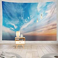 ANLAI カラフルな空の夕日の自然壁掛けタペストリー ンンド 壁飾り 家 リビングルーム ベッドルーム 部屋 おしゃれ飾り 200cm x150cm