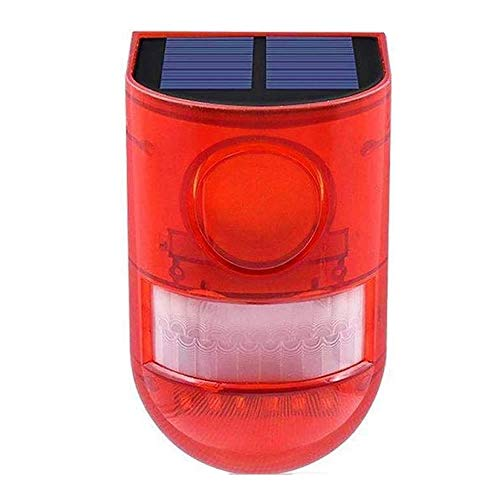 BRAVE 防犯アラーム 人感センサー LED付き ソーラー充電 LED警告灯 警報機 110db ブザー音 警告アラーム IP65防水 MV-SOLARM