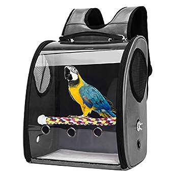 GreeSuit Oiseau Loro Sac à dos de voyage avec cintre Support pour perruches Cacatúas Conures Pinces Petit moyen Cage pour oiseaux Aéroliennes extérieures Avion Voiture