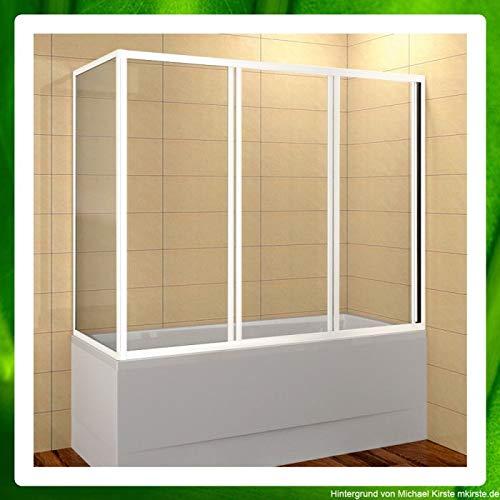Badewannenaufsatz geschlossen mit Schiebetür von 120x70 bis 180x90 cm Glastyp Kunststoffglas Perle, Länge 170 cm, Breite 80 cm