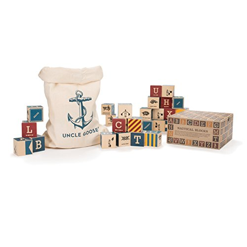 Uncle Goose Nautical Blocks with Canvas Bag - Made in USA