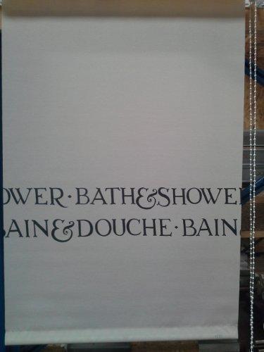 Doucherolgordijn 45x185 cm 1783 rolgordijn douchegordijn met trekkoord douchewand douchewand