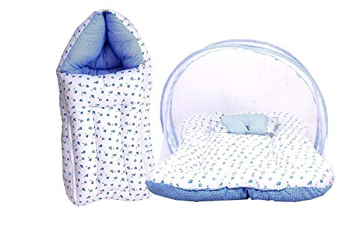 Baby Fly Toddylon Baby Sleeping Bag with Mosquito Net Bed for Baby (0-6 Months) (Blue Heart)