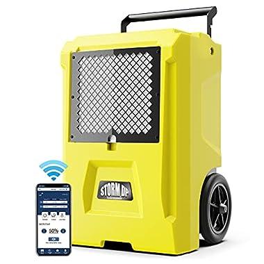 ALORAIR Storm DP Single-Voltage Dehumidifier, 110 PPD Commercial Dehumidifier with Smart APP Control, Industrial…