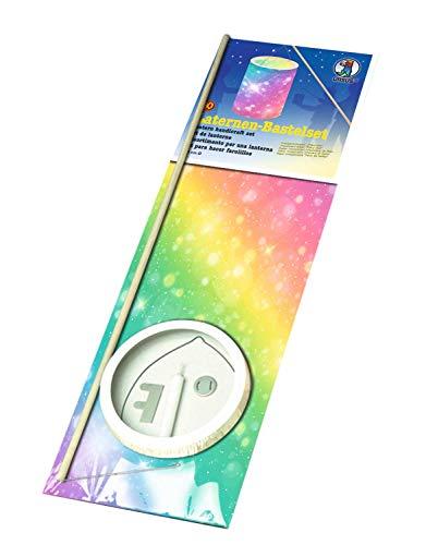 Ursus 7440000 - Laternen Bastelset, Feenstaub, ca. 20 x 15,3 cm, aus Transparentpapier, Set zum Erstellen von selbstgebastelten Laternen, ideal geeignet für den Laternenlauf