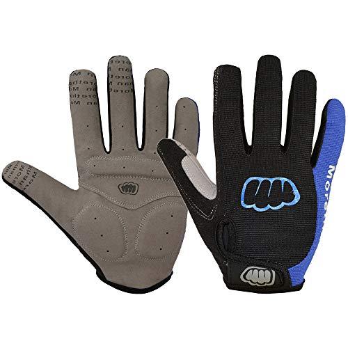 Andoer Luvas de ciclismo de inverno feminino masculino Luvas de bicicleta com tela sensível ao toque de tecido térmico de dedo completo Luvas de gel antiderrapante para motocicleta Luvas para bicicle