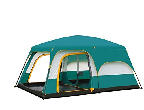 Two rooms, one hall, tent, outdoor camping, 6 people, 8 people, 10 people, 12 people, two rooms, one hall, multi-person rainproof tent,Big (Size : Big)