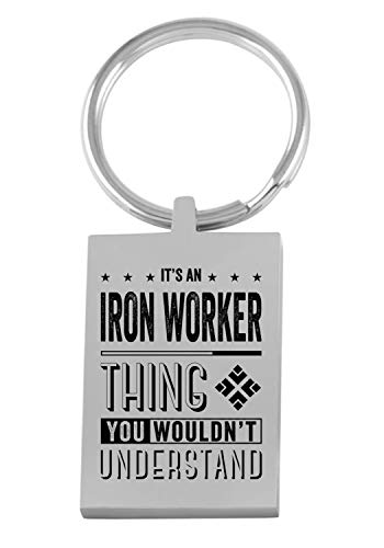 Christmas Holiday New Job Keychain With Name It's an Iron Worker Thing You Woundn't Understand Congratulations Gifts for Family Husband Wife Drive Safe Keychain Key Ring Jewelry
