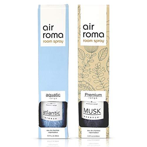 AirRoma Combo of Musk Fragrance Air Freshener Spray 200 ml & Atlantic Breeze Fragrance Air Freshener Spray 200 ml…