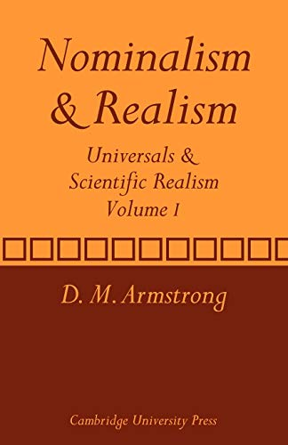 Nominalism and Realism: Universals and Scientific Realism (Universals & Scientific Realism)