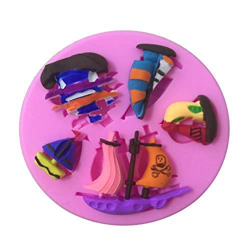 RelaxLife Backen Formen Verschiedene Piratenschiff Form Silikon Kuchenform, Backform Für EIS Candy Jelly Schokolade Cupcake Fondant Kuchen Dekorationswerkzeuge