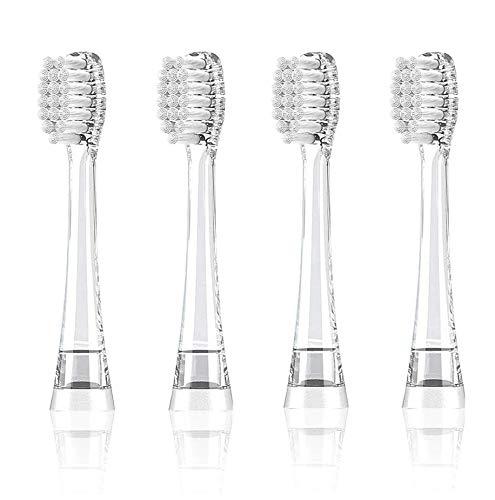 Seago Cabezales de repuesto para cepillo de dientes eléctrico, 4 unidades, para...
