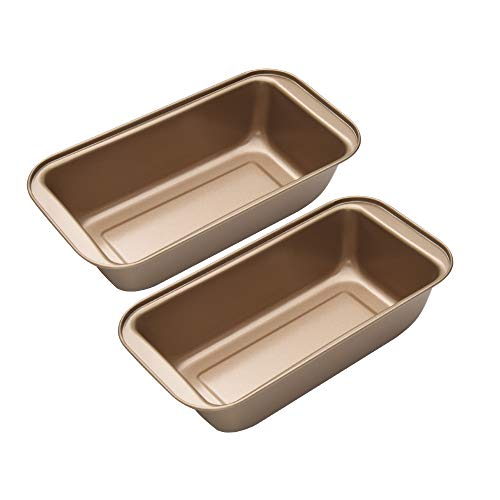 OJelay Bread Loaf Pan, Two 9-Inch x5-Inch, 2 Pack Nonstick Baking Pan Carbon Steel Loaf Pan Set For Baking Bread