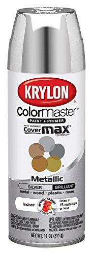 Krylon K05151102 ColorMaster Paint + Primer, Metallic, Silver, 11 oz.