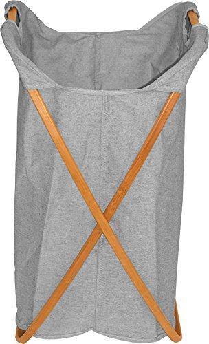 Cesto de ropa sucia plegable de madera