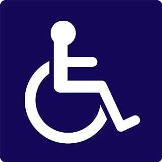 車椅子ピクトサイン(トイレや保管場所等、広く車椅子利用を示すサインとしてお使いください。壁面等設置用両面粘着テープ付きです。)/Wheel Chair Restroom Sign(w/double sided adhesive tape)