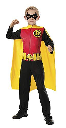 DC Comics - Disfraz de Robin superhéroe para niños, infantil talla 3-4 años (Rubie