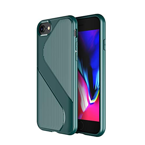 Diztronic Funda iPhone 8, Funda iPhone 8 Plus, 3D Touch S Lined-Grips Cover Anti-Scratch Shock Absorption Case for Apple iPhone 7 / iPhone 8 / iPhone 7 Plus/iPhone 8 Plus (iPhone 7/8, Teal)