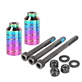 AIMINDENG Stunt Scooter Pegs Conjuntos con Hardware de Eje 2.5', 3.0', 3,5'FIT For Freestyle Scooter Grinds (Color : Neo Chrome pegs02)