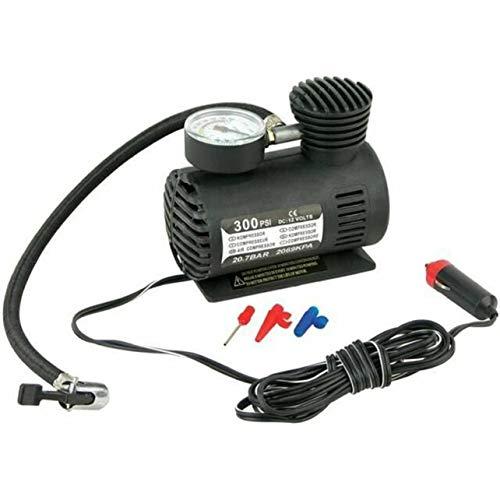 MARSPOWER Inflador de neumáticos de Alta Resistencia Dc12V 300 PSI Inflador de neumáticos de Coche Compresor de Aire automático Bomba de neumáticos con manómetro para Coche Bicicleta Moto Bola