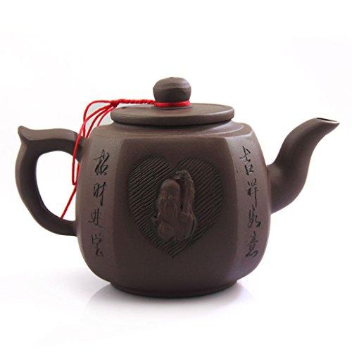 GOARTEA 500ml Chinese Yixing god of Longevity Handmade Purple Clay Pottery Zisha Teapot Teekannen