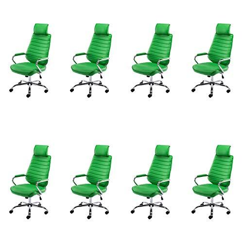 Lüllmann Rako V2 - Silla giratoria de oficina (8 unidades), color verde