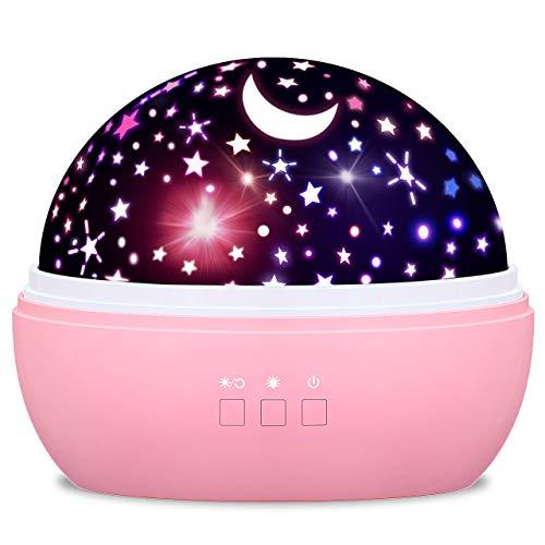 dmazing Spielzeug ab 2-10 Jahren Mädchen, Nachtlicht Kind Sternenhimmel Projektor Geschenke für Mädchen 2-10 Jahre Kinderspielzeug ab 2-10 Jahren Mädchen Jungen Geschenke 2-10 Jahre Rose