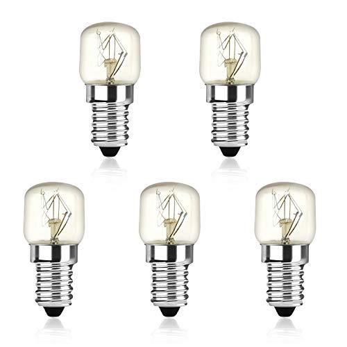 Bonlux E14 Glühlampen 25W 150lm Backofenlampe T22 Halogenlampe Warmweiß 2400-2600K Wolframlicht Bis 300°C Hitzebeständiges Ofen Glühbirnen (5 Stück Nicht Dimmbar)