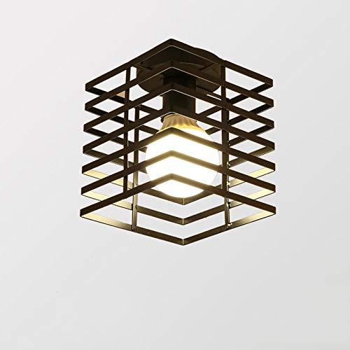 Plafondverlichting, plafondlamp, plafondverlichting, plafondspot, woonkamerlamp, industriële ledlampen, retro vintage-lamp, zwart plafonnier led-verlichting voor balkons, gang, foyer, halway, café, E27