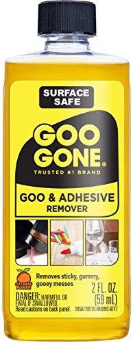 Original – 2 oz – Superficie segura removedor de adhesivo que elimina de forma segura los residuos de etiquetas adhesivas, goma de mascar, grasa, alquitrán o brea
