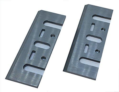 Par de cuchillas cepilladoras de 82 mm x 29 mm x 3 mm, repuesto adecuado para cepilladoras Black & Decker, Metabo, Ryobi, Bosch, Stil, DeWalt, Elu, AEG