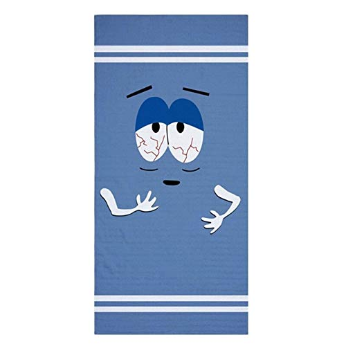 YANODA Lustige Towelie Big Lounger Badetuch Kurios Reisen Badetücher Set for Erwachsene Große Leicht Sport Gesicht Handtuch Gym Männer 140x70 Tragbar (Color : Towelie, Size : 35x75cm Face Towel)