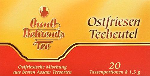 Onno Behrends Ostfriesen-Teebeutel, Tassenportionen, 20 Beutel, 12er Pack (12 x 30 g)