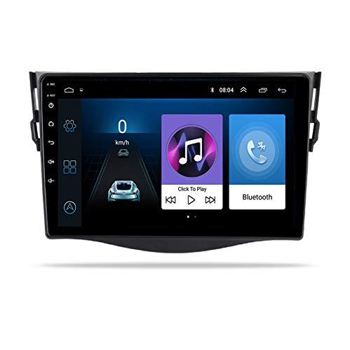 ADMLZQQ Android 9 Coche Radio Estéreo Autoradio Bluetooth MirrorLink GPS USB para Toyota RAV4 2007-2011 Manos Libres Bluetooth Mandos Volante + Cámara Respaldo,8 Cores 4g+WiFi:4+64g