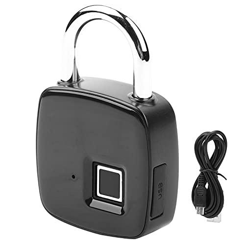 Fingerprint Padlock, USB Charging Keyless Fingerprint Lock, Dormitory Household Cabinet Lock, Smart Door Lock Portable, Long Standby Time