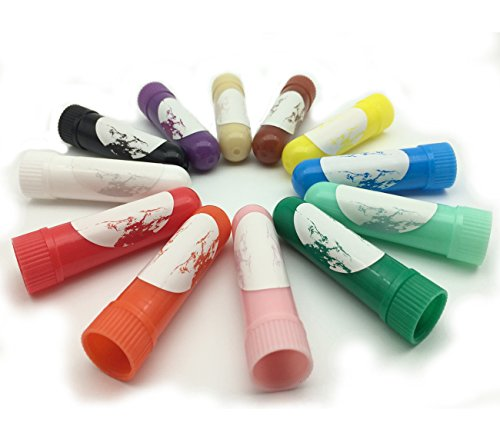zison Nasal Inhaler Tubes - Kit Contains: 24 Empty Nasal Inhaler Tubes (With Wicks) In 12 Different Colors, 12 Extra Wicks,36 Writable Stickers, 2 Mini Droppers And 1 tweezers