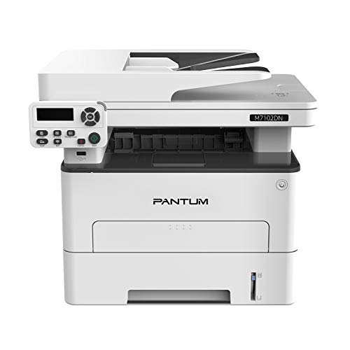 Pantum M7102DN Monochrome Laser Printer Multifuntion Printer with Copier Scanner Automatic Duplex Printing Connect with Network and USB 2.0