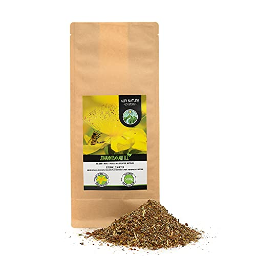 Hipérico infusión (500g), hierba de San Juan, cortado, secado suavemente, 100% natural, Hipérico hierba, Hipérico té