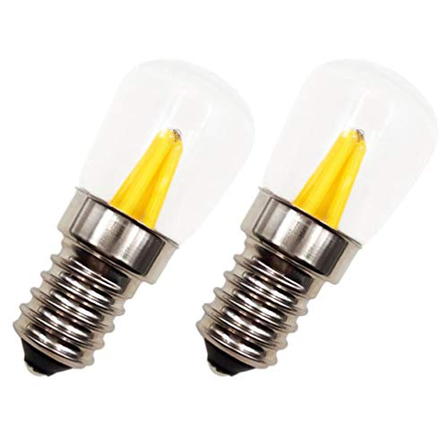 SOLUSTRE 2 Bombillas LED para Refrigerador 3W Bombillas de Nevera Bombilla de Repuesto Diurna para Horno Estufa Refrigerador Microondas Incandescente E14 Tornillo Base Accesorios para