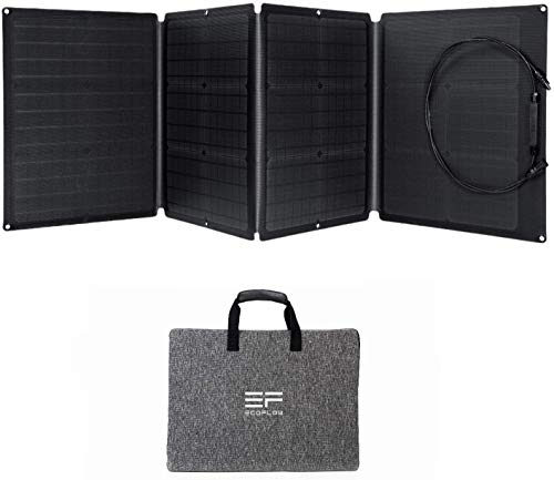 ECOFLOW 110W Portable Solar Panel for EFDELTA, Foldable Solar Charger Chainable for EFDELTA Power Station Waterproof IP67 for Outdoor Camping RV