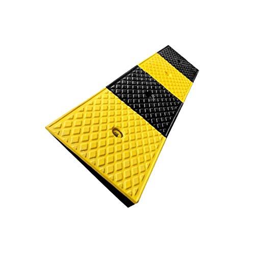 GPWDSN veiligheidsoprijplaat, helder gele kunststof uphill pad anti-slip multifunctioneel durable-driehoekige bekleding fiets motorfiets stap pad 5-13 cm