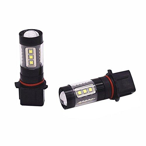 Republe 2pcs P13W LED Voiture antibrouillard Avant Ampoules Auto Lamp,P13W White Bulbs,Auto Blanc Haute Puissance 80W Automatique de Jour Lampe de Conduite