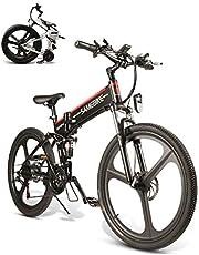 SAMEBIKE Elektrische mountainbike, 66 cm, inklapbaar, 350 W, 48 V, 10 Ah, voor volwassenen