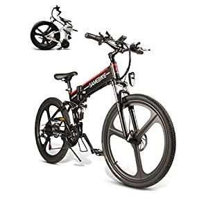 BMX Bikes SAMEBIKE LO26 Electric Mountain Bike 26″ Wheel Folding Ebike 350W 48V 10AH 21 Speed Magnesium Alloy Rim for Adult [tag]