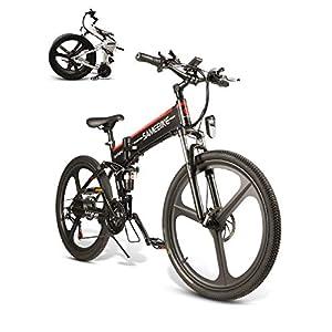 BMX Bikes SAMEBIKE LO26 Electric Mountain Bike 26″ Wheel Folding Ebike 350W 48V 10AH 21 Speed Magnesium Alloy Rim for Adult [tag]