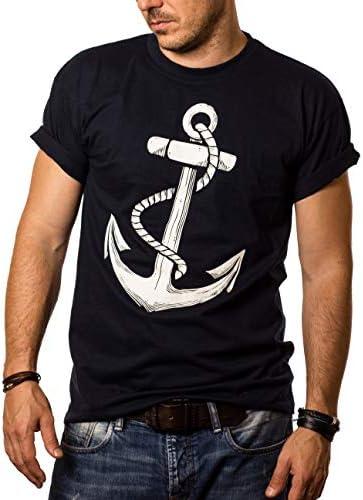 MAKAYA Camiseta Graciosa Hombre - Estampada con Ancla