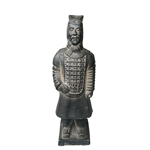Terracotta Warriors, China Qin dynasty guerreros de terracota Escultura Decoración Mesa Multi de regalo de presentación 22cm, Officer