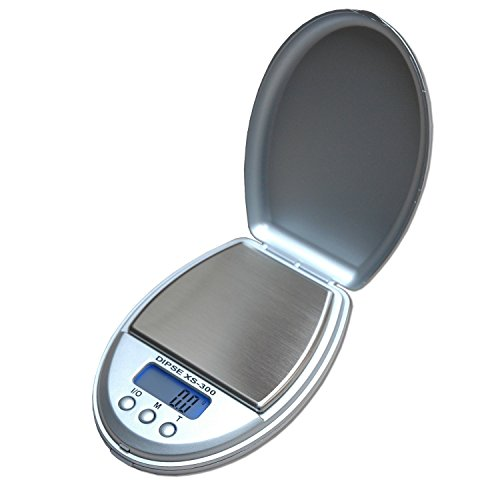 DIPSE precisieweegschaal XS-300 zilver - digitale weegschaal met max. 300 g met 0,1 g verdeling.