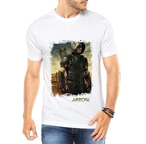 Camiseta Branca Masculina Arrow Arqueiro Seriado Série (P)